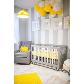 La chambre de bébé jaune