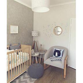 La chambre de bébé tons gris