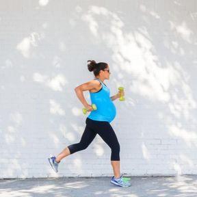 Des capacités physiques de championne enceinte