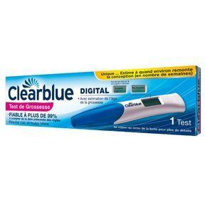 Test de grossesse Clearblue DIGITAL avec estimation de l'âge de la grossesse