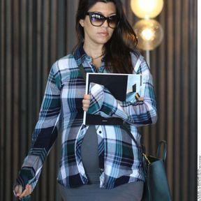 Kourntey Kardashian enceinte, septembre 2014
