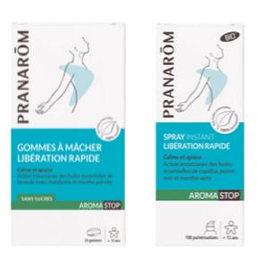 Aromastop Spray Instant et gommes à mâcher - Pranarom