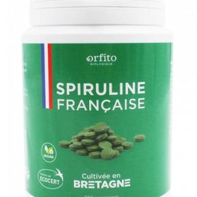Spiruline française écocert - Orfito