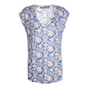 Tee-shirt bleu Comptoir des cotonniers printemps été 2014