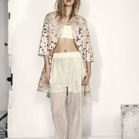 Pantalon brodé H&M printemps été 2014