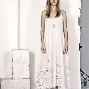 Robe longue blanche H&M printemps été 2014