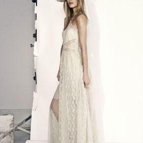 Robe longue en dentelle H&M printemps été 2014