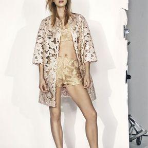 Short doré H&M printemps été 2014