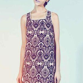 Robe imprimé baroque New Look printemps été 2014