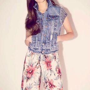 Veste en jean sans manche New Look printemps été 2014