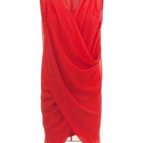 Robe de cocktail rouge Naf Naf