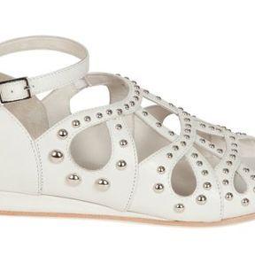 Sandales compensées blanches Maje 2014