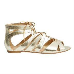 Sandales dorées Etam
