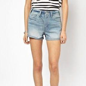 Short taille haute vintage jean Levi's 2014