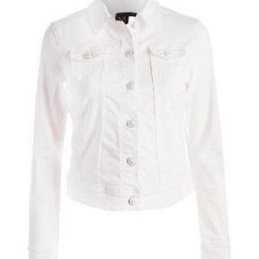 Veste en jean blanche Cache Cache 2014
