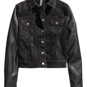 Veste en jean noir femme H&M 2014
