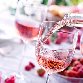 Un verre de rosé