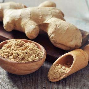 Le gingembre en poudre