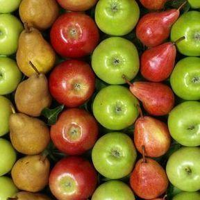 Les pommes, les fraises et les poires