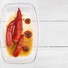 Poivron rouge cuit