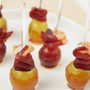 Raisins caramélisés et magret de canard séché