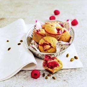 Muffins framboise-pistache