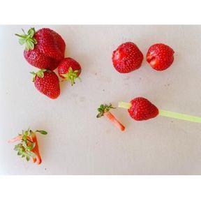 Astuce pour équeuter des fraises