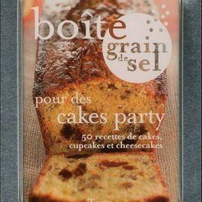 Boîte grain de sel pour des cakes party