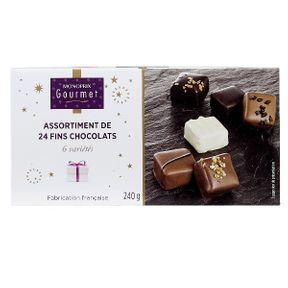 Assortiment 24 fins chocolats de Monoprix Gourmet