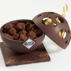 Boule Bonbonnière et ses truffes 2016, L'Atelier du Chocolat