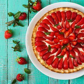 La tarte aux fraises sans cuisson