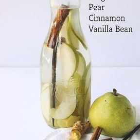 Detox water poire, cannelle, vanille
