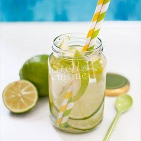 Detox water pomme granny, citron vert