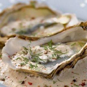 Huîtres à la crème de truffe
