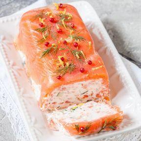 Terrine au saumon et crevettes
