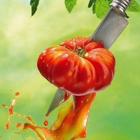 Un coeur de boeuf avec le couteau d'Alfred