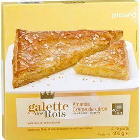 """Galette """"Amande et crème de citron"""" 2015, Picard"""