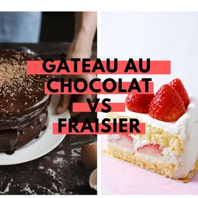 Calories Gâteau au chocolat vs fraisier
