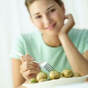 Les pommes de terre cuites, et non pas en purée