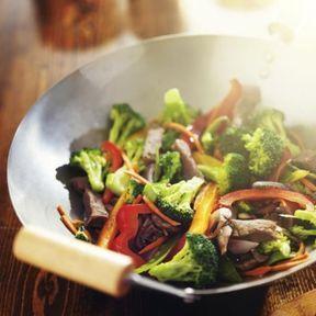 La cuisson au wok ou à la poêle