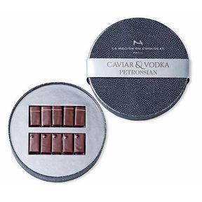 Coffret chocolat caviar - vodka - Petrossian x La Maison du Chocolat
