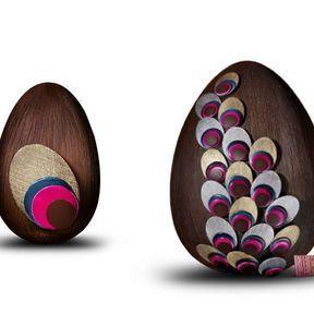 Oeuf Paon et œuf plume - Fauchon