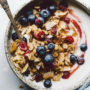 Müesli granola et fruits