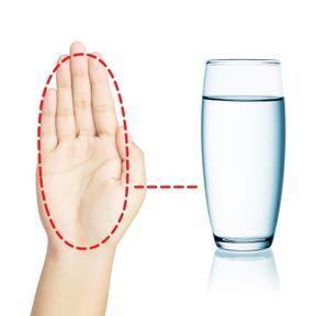 La bonne portion d'eau