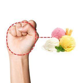La bonne portion de crème glacée