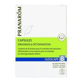 Les capsules Drainage et Détoxination, Pranarom
