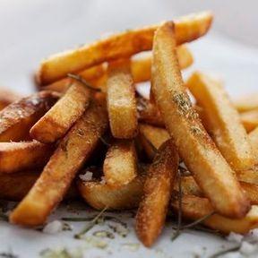 Pour les frites, de l'huile d'arachide