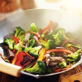 Pour une recette au wok, de l'huile de sésame