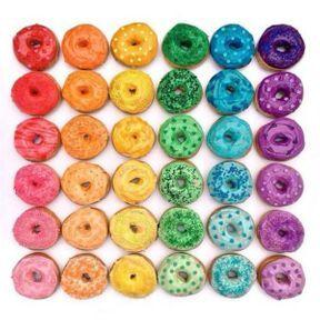 Les donuts colorés