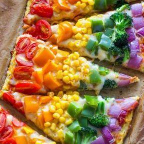 La pizza colorée